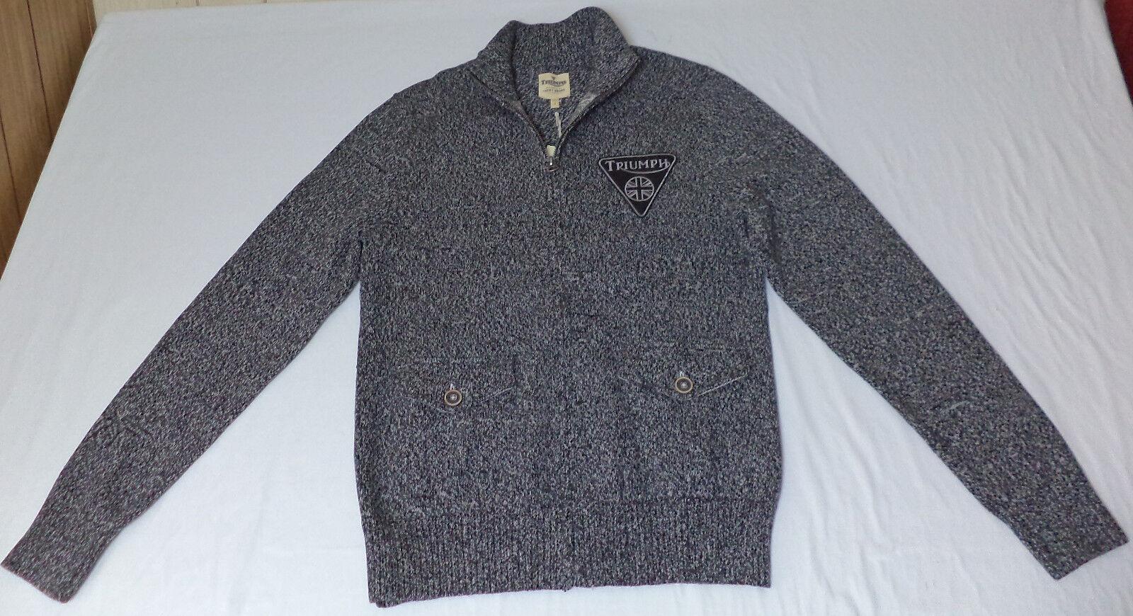 NWT Triumph Long Sleeve Multi-Farbeed Full Zipper Front Sweater   Medium   L1305