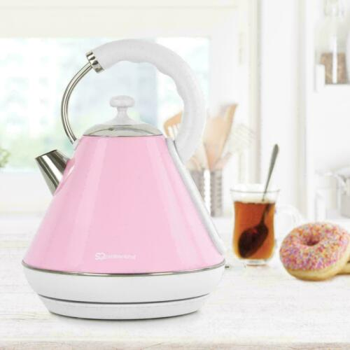 Cordless Electric Kettle Legacy Jug Fast Boil Kettles 2200W 1.8L 360* Auto Stop Baby Pink,Light Blue,Light Green