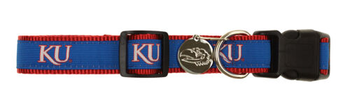 Sporty K9 NCAA Kansas Jayhawks Ribbon Dog Collar