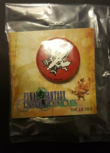 Final Fantasy Crystal Chronicles Camecube Pins Set of 4 Sealed