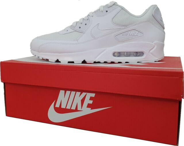 Nike Air Max 90 Essential Sneaker für Herren Weiß, EUR 44