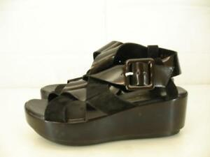 154887206 Womens 5.5 6 sz 36 Robert Clergerie Pod Platform Sandals Black ...