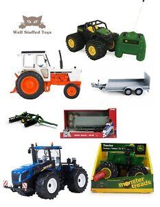 Big-Farm-John-Deere-New-Holland-David-Brown-Tractor-Trailer-Toy-Playsets