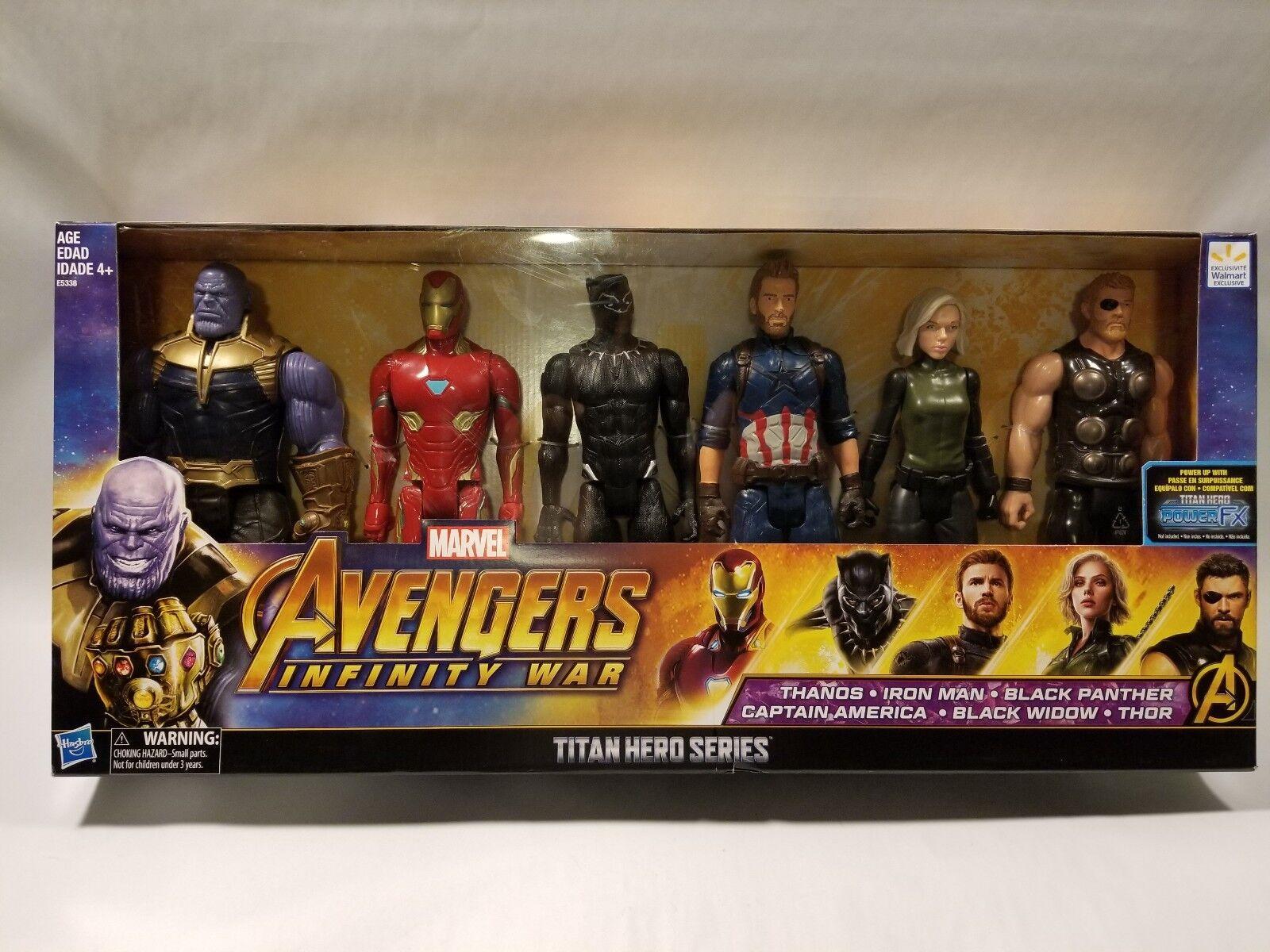 Marvel Avengers Infinity War War War Titan Hero Series 6pk Figures Collection 3c7ea2
