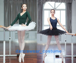 02a588b8c Image is loading Ladies-Professional-Ballet-Tutu-5Layers-Hard-Organdy- Platter-
