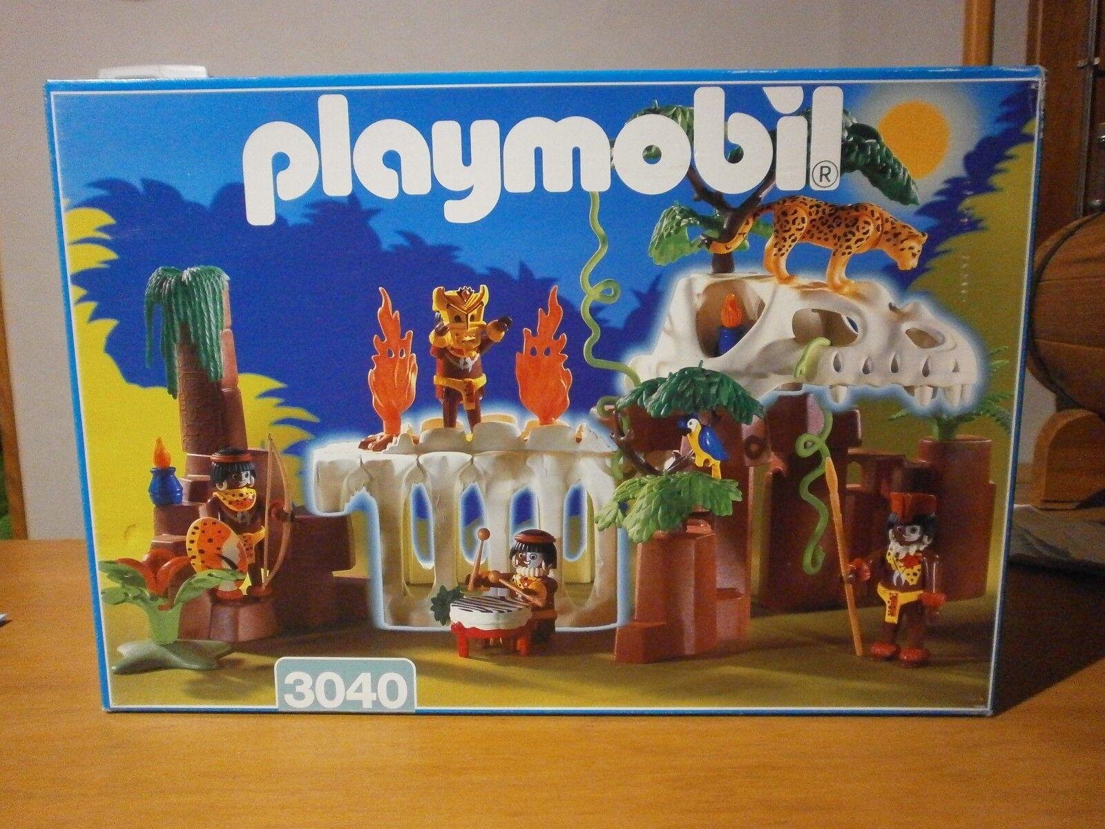 Rare  cette boîte PLAYMOBIL les indigènes de la jungle réf 3040 de 1998 (complet)  60% de réduction