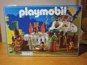 Rare Cette Boîte Playmobil Les Indigènes De La Jungle Réf:3040 1998 (complet)