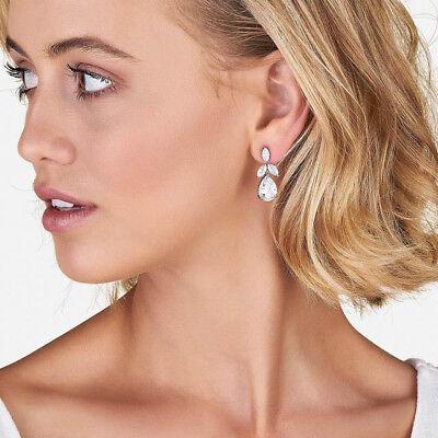 Samantha Wills Earring Bridal Orchid Silk Crystal Teardrops Gold Nwt 159 Ebay