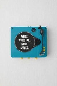 Gadhouse Vinyl Schallplattenspieler Brad mit Bluetooth 3 Speed Plattenspieler blau *