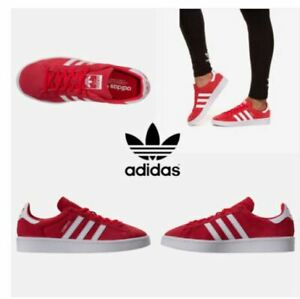 Details zu New Adidas Women's Campus Shoes REDWHITE ,Fashion Sneakers DB1018