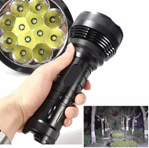 30000LM 12x XM-L T6 LED Waterproof Flashlight 5 Mode Bright Torch Light Lamp