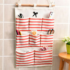 8 Pockets Hanging Door Wall Mounted Clothing Closet Storage Bags Organizer