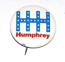 "pin 01 1968 Hubert H Humphrey 2-1//4/"" /""HHH/"" Presidential Campaign Button"