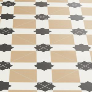 Victorian Star Tile Effect Vinyl Flooring Sheet Kitchen ...