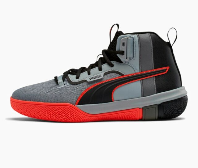 NEW Puma Legacy Disrupt Black/Red/Grey Basketball Shoe 193018-01 Men's Size 11.5