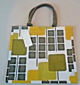 compras Green Orla juco de Tesco Canvas Shopper Squares coleccionable Bolso Kiely xwSq58Hwt