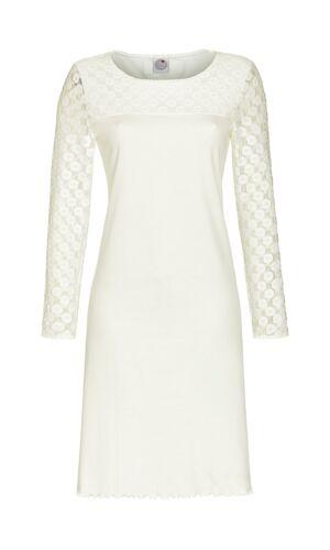 36 38 40 42 44 46 48 S M L XL XXL Ringella Damen Nachthemd in off white Gr