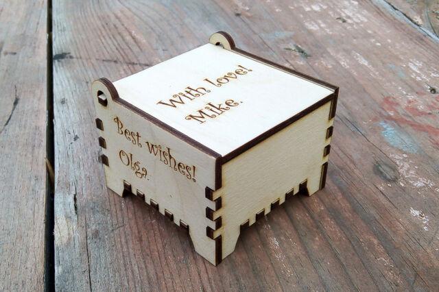 Personalized Gift Box Wedding Jewelry Gift Box Custom Bridesmaid
