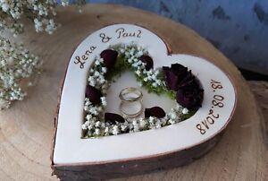 Hochzeit-Ringkissen-Ringhalter-Herz-Mille-Fleurs-dunkelrot-mit-Namen