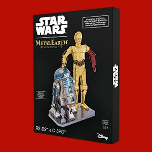 Metal Earth Star Wars R2D2 & C3PO DIY laser cut 3D steel model kit MMG276
