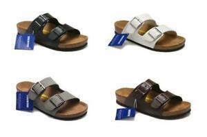 New-Men-039-s-Birkenstock-Arizona-Birko-Flor-Slip-On-Cork-Sandal-Unisex-Shoes