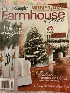 Country Sampler Farmhouse Style Holiday 2020 Christmas Cozy Festive Diys New Ebay