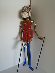 Antiques Asian Antiques Wayan Golek 12 Inch Rod Puppet Doll