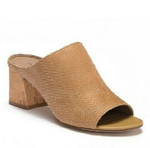 Donald Pliner Ellis Cork Block Heel Mules 9 Open T