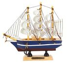 Handmade VINTAGE Nautical Wooden Wood Ship Sailboat Boat NEW Model Decor #12