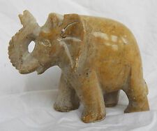 Vintage Hand Carved African  Soapstone Elephant c 1940s