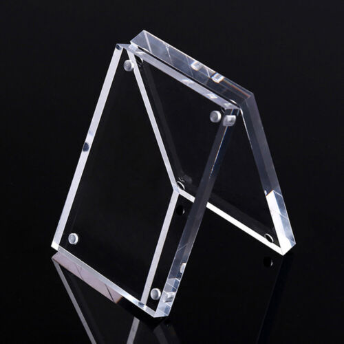 Free Standing Polished High Clear Acrylic Magnetic Picture//Photo Frame Decor