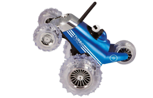 Turbo-Tumbler-Car-Blue-RC-Remote-Controlled-Toy-Monster-Spinning-360-49MHz