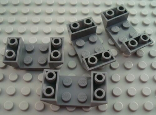 LEGO Lot of 4 Dark Bluish Gray 2x4 Inverted Airplane Cockpit Slopes