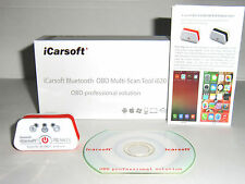 ICARSOFT i620 KFZ AUSLESEGERÄT OBD per BLUETOOTH für Android PC Tablet Smartphon