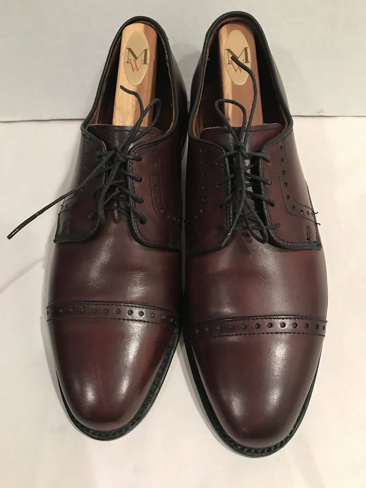 ALLEN EDMONDS Uomo Clifton Burgundy Burnish Pelle Blucher Shoes Sz 8 8 Sz D 95a2a3