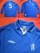 CHELSEA #5 Home LONG SLEEVE shirt UMBRO 2001-2003 Babayaro men/adult SIZE L