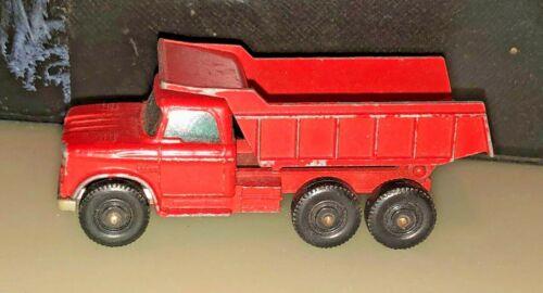 RED ENGLAND DODGE1966 VINTAGE MATCHBOX LESNEY # 48 DUMPER TRUCK ORANGE