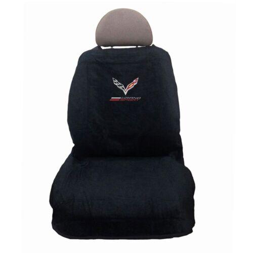 C7 Grand Sport Corvette Seat Armour 100/% Cotton Black Seat Towel