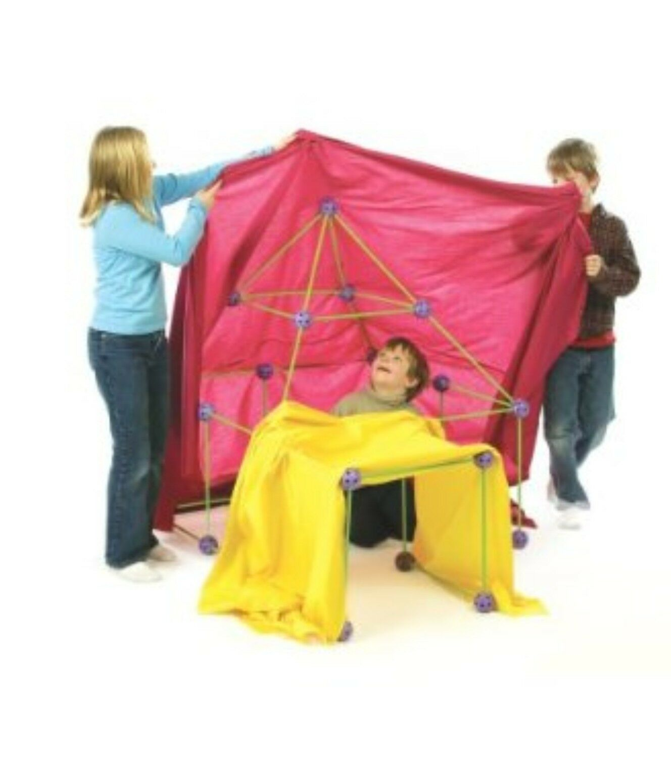 Crazy Forts 69 Piece Set for Building Fort out of Sheets Tent RETURNED BOX CF01