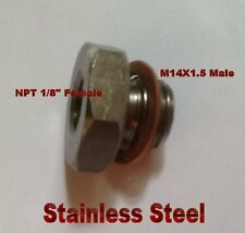 "SpeedFlow Port 1//8""NPT Thread M14 x 1.5 Metric Oil Sender Adapter 810-M14-02-BLK"