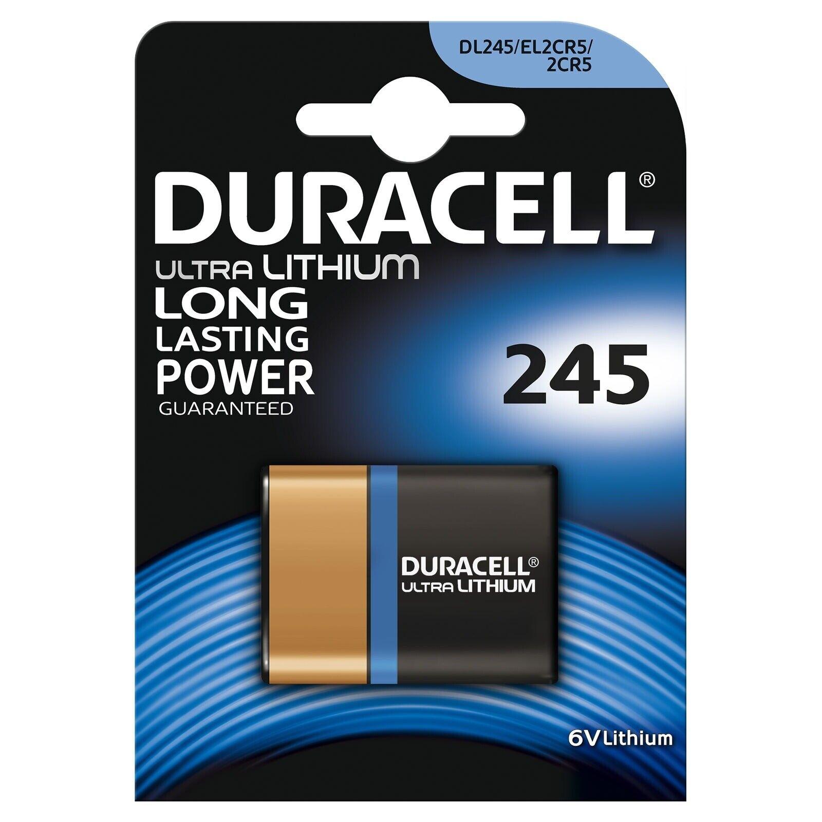1 x Duracell 245 2CR5 6V Ultra Lithium Photo Battery CR245 DL245 EL2CR5