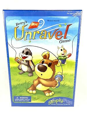 Simply Fun Games Beary/'s Unravel Children/'s Learning Board Game 2012 OOP NEW!