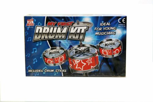 Childs Kids My First Sound Drum Kit Play Set Drums Musical Toy NEW