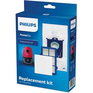 Philips FC8001//01 Ersatzteil-Set 1x Motorfilter PowerGo 1x s-bag 1x Allergie
