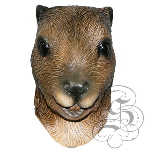 Latex Animal Head Semiaquatic Rodent BEAVER High Quality Fancy Dress Party Mask