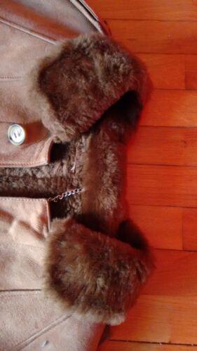 Uomo Vintage Shearling 46 Montone Alguera Cappotto Giaccone 6Uznaa