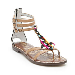 a50147a2c9a2 Image is loading Sam-Edelman-Giselle-Saddle-Leather-Gladiator-Sandal-Women-