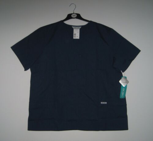 CHEROKEE NAVY BLUE Hospital Scrubs Top Tunic Uniform 2 Pocket XS S L XL 2XL 3XL