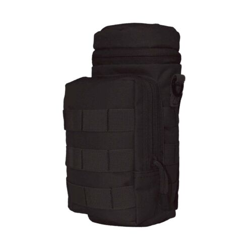 Military tactical molle pouch H2O pouch water bottle pouch Black