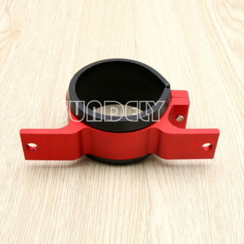 Alloy 60mm External Fuel Pump Filter Mounting Bracket Clamp Cradle Holder Red US